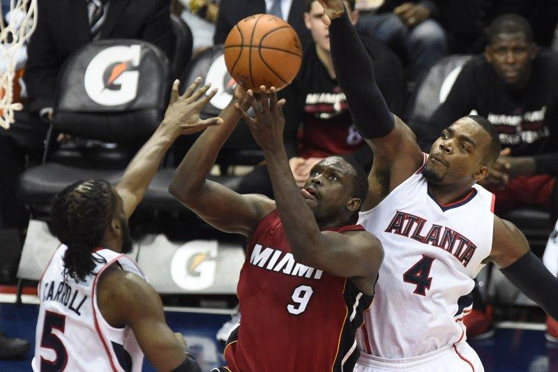 Miami Heat's Luol Deng (9). Photo by David Tulis/UPI