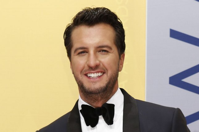 Luke Bryan arrives at the 2016 Country Music Awards in Nashville on November 2, 2016. The country music star is to sing the national anthem at next month's Super Bowl. File Photo by John Sommers II/UPI