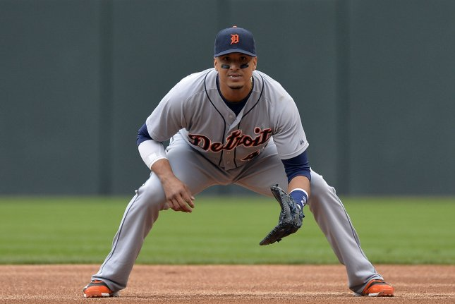 Victor Martinez and the DetroitTigers take on the Cleveland Indians on Sunday. Photo by Brian Kersey/UPI