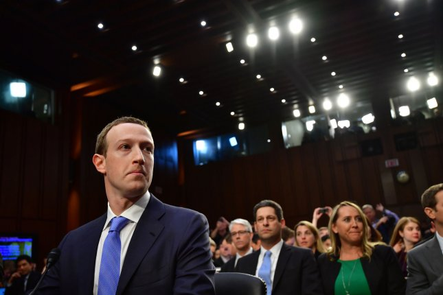 Facebook CEO Mark Zuckerberg waits to testify April 10 at a joint hearing before the Senate judiciary and commerce committee hearing on social media privacy and the use and abuse of data. Photo by Kevin Dietsch/UPI