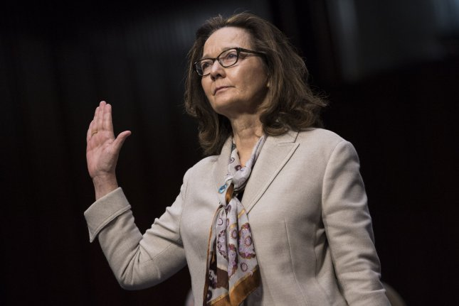 Gina Haspel is sworn in before testifying during her Senate Intelligence Committee confirmation hearing on Capitol Hill on May 9. Haspell will brief Senate leaders on three committees on the killing of journalist Jamal Khashoggi in Saudi Arabia. Photo by Kevin Dietsch/UPI
