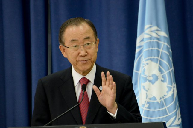 U.N. Secretary General Ban Ki-moon is on a five-day visit to South Korea. Files Photo by Debbie Hill/UPI