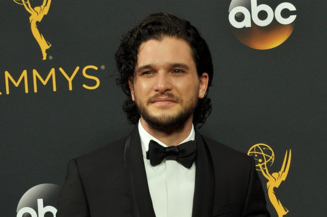 Kit Harington attends the Primetime Emmy Awards on September 18, 2016. The actor plays Jon Snow on Game of Thrones. File Photo by Christine Chew/UPI