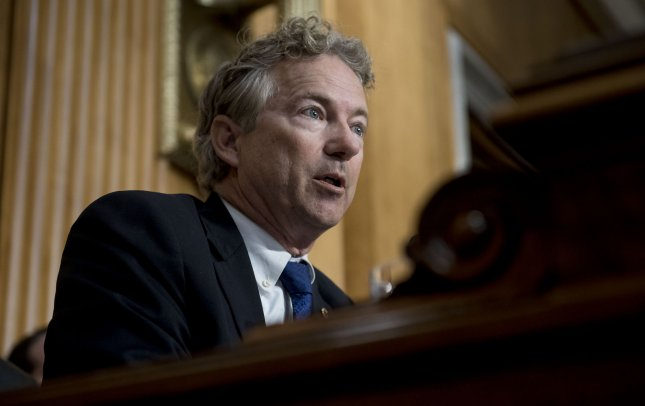 Sen. Rand Paul, R-Ky., said Saturday that he can't vote to give extra Constitutional powers to the president, indicating he may provide the fourth vote necessary for Democrats to pass a resolution terminating President Donald Trump's national emergency declaration to secure funds for a border wall. File photo by Leigh Vogel/UPI