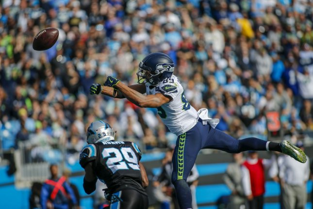 Former Carolina Panthers free safety Mike Adams (29) had 30 interceptions during his 16-year NFL career. File Photo by Nell Redmond/UPI