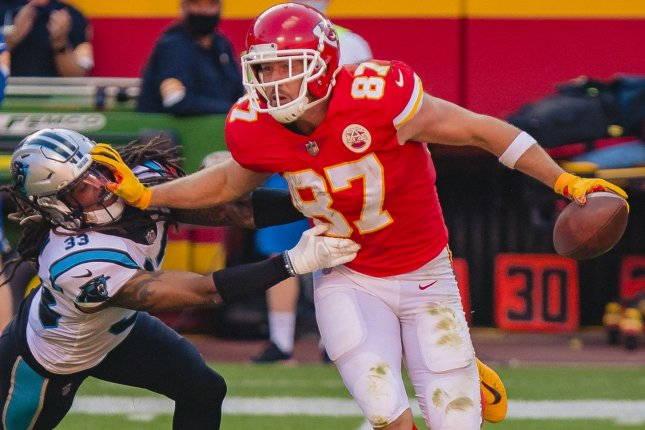 Kansas City Chiefs tight end Travis Kelce is my No. 1 fantasy football option for his position for Week 14. File Photo by Kyle Rivas/UPIfa