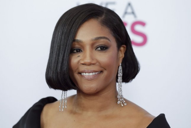 Tiffany Haddish will portray Olympic great Florence Griffith Joyner in an upcoming biopic. File Photo by John Angelillo/UPI