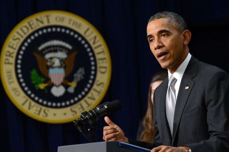 U.S. President Barack Obama wants to host ESPN's SportsCenter . (File/UPI/Pat Benic)