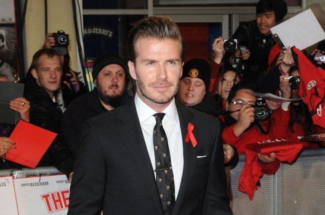English former footballer David Beckham attends the World Premiere of The Class Of 92 at The Odeon West End in London on December 1 2013. UPI/Paul Treadway