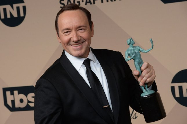 House of Cards star Kevin Spacey appears backstage during the 22nd annual Screen Actors Guild Awards on January 30. Netflix announced that House of Cards will return in May. File Photo by Jim Ruymen/UPI