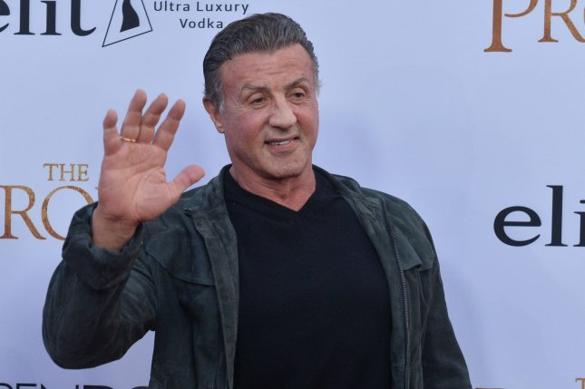 Sylvester Stallone attends the Los Angeles premiere of The Promise on April 12. The actor will guest star as Kevin Pearson's (Justin Hartley) co-star on This is Us. File Photo by Jim Ruymen/UPI