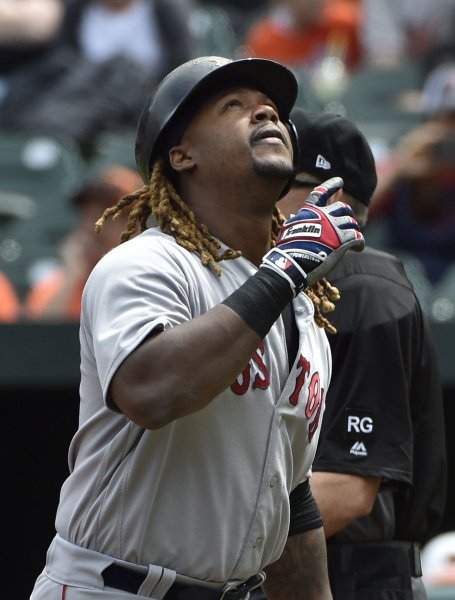 Hanley Ramirez and the Boston Red Sox drubbed the rival New York Yankees on Friday. Photo by David Tulis/UPI
