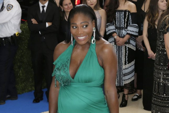 Serena Williams posted a new picture with 2-month-old daughter Alexis Olympia on Monday. File Photo by John Angelillo/UPI