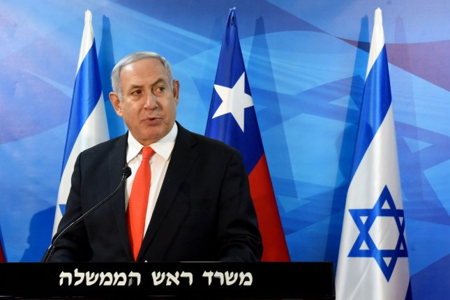 Israeli Prime Minister Benjamin Netanyahu vowed to build 300 new housing units in a West Bank settlement after a terrorist attack. File Photo by Debbie Hill/UPI