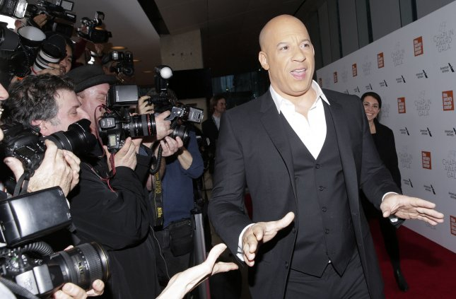 Vin Diesel's action movie, F9, is the No. 1 movie in North America for a second weekend. File Photo by John Angelillo/UPI