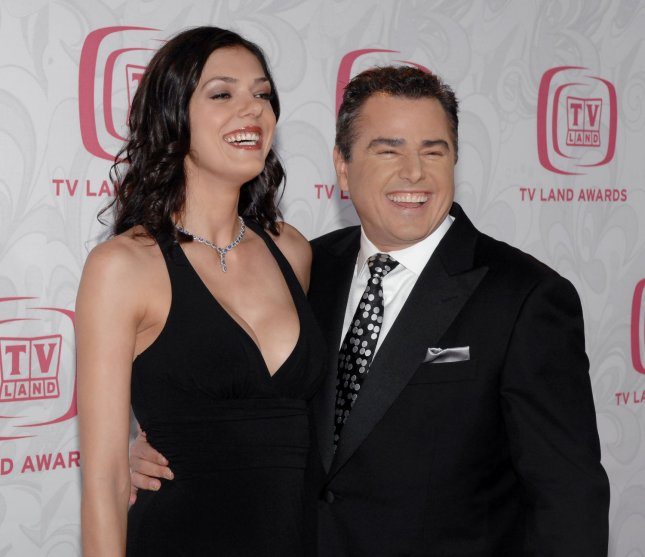 Adrianne Curry and Christopher Knight on April 14, 2007. (UPI Photo/Jim Ruymen)