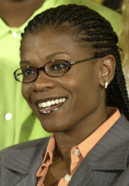 Sheryl Swoopes. File photo by Roger L. Wollenberg/UPI