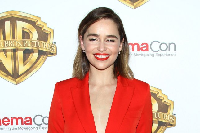 Emilia Clarke arrives for the Warner Bros. Pictures Presentation at CinemaCon on April 12, 2016. Clarke has stated that she won't be returning for any future Terminator films. File Photo by James Atoa/UPI