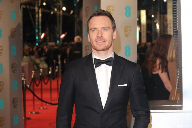 Michael Fassbender attends the EE British Academy Film Awards 2016 on February 14, 2016. Fans were given their first look at Fassbender's android character David from Alien: Covenant in a new on set photo alongside director Ridley Scott. File Photo by Paul Treadway/UPI