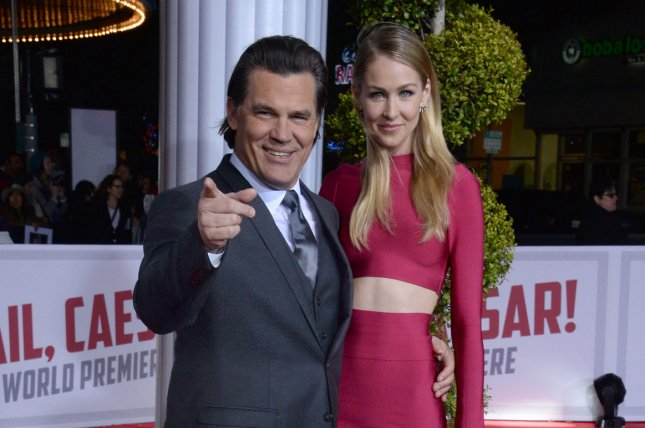 Cast member Josh Brolin (L) and his fiancee, model Kathryn Boyd, attend the Hail, Caesar!' premiere in Los Angeles on February 1, 2016. File Photo by Jim Ruymen/UPI
