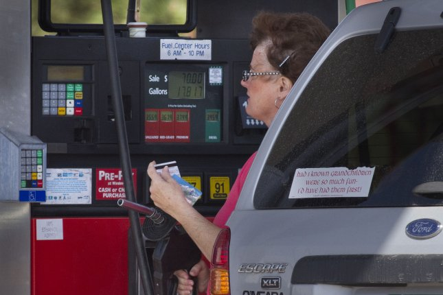 Fuel prices as of the last week of January showed little change from a week earlier and from last month, with large inventories likely to contribute to little changes in the immediate term, AAA said File Photo by Gary C. Caskey/UPI