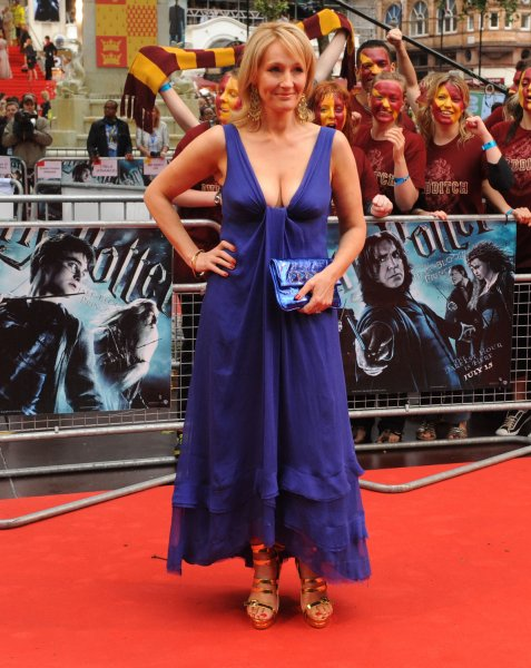 23f2f568dc69 British author JK Rowling attends the World premiere of