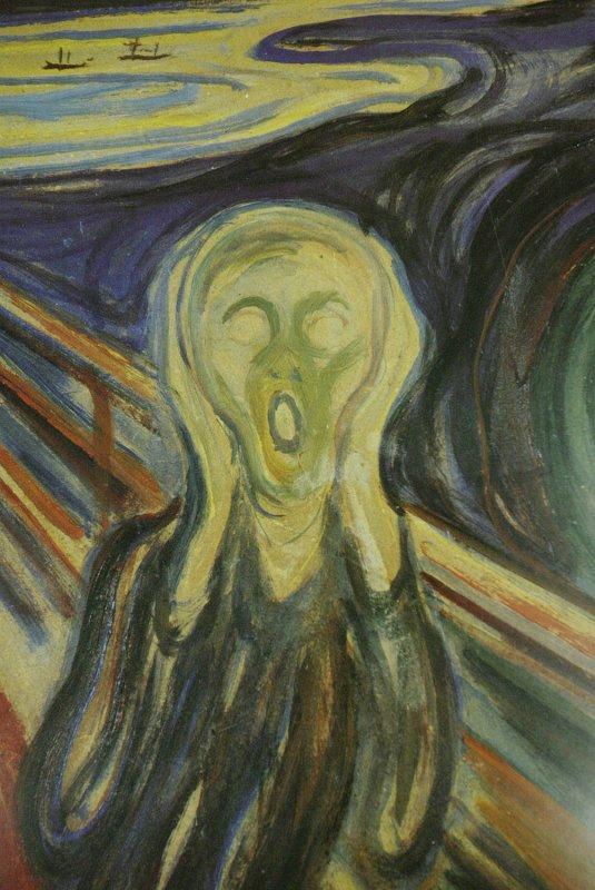Edvard Munch's The Scream. (UPI Photo/Bill Greenblatt)