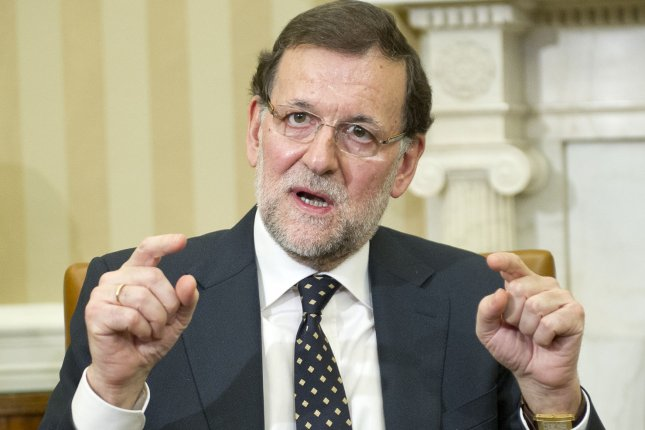 Mariano Rajoy Brey, President of the Government of the Kingdom of Spain (Prime Minister) meets with President Barack Obama in the Oval Office of the White House in Washington, D.C. on January 13, 2014. UPI/Ron Sachs/Pool