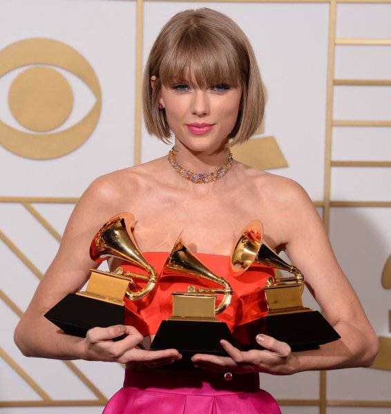 Taylor Swift, winner of the Best Album of the Year award for 1989, appears backstage during the 58th annual Grammy Awards held at Staples Center in Los Angeles on February 15, 2016. During her acceptance speech, Swift seemingly delivered a thinly veiled diss towards Kanye West for his controversial lyrics about the singer from his new album The Life of Pablo. Photo by Phil McCarten/UPIPhoto by Phil McCarten/UPI