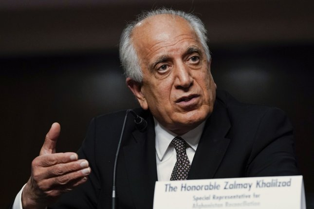 U.S. Special Representative to Afghanistan Zalmay Khalilzad testified before Congress Tuesday that he does not believe the Afghan government is going to collapse after U.S. troops withdraw. Pool photo by Susan Walsh/UPI