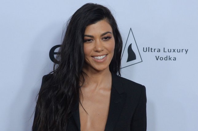 Kourtney Kardashian attends the Los Angeles premiere of The Promise on April 12. The reality star got close to Younes Bendjima on Sunday. File Photo by Jim Ruymen/UPI