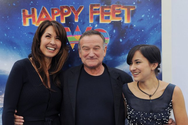 Robin Williams pictured with his wife Susan Schneider and daughter Zelda Williams on November 13, 2011. Photo by Jim Ruymen/UPI