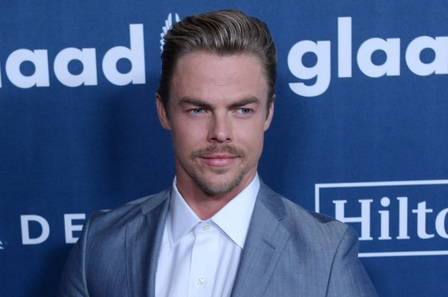 Dancing with the Stars veteran Derek Hough attends the 27th annual GLAAD Media Awards in Beverly Hills on April 2, 2016. File Photo by Jim Ruymen/UPI