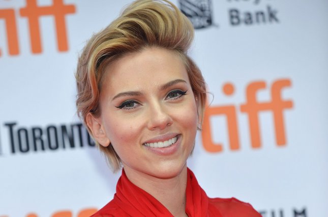 Scarlett Johansson arrives at the Toronto International Film Festival premiere of Sing at the Princess of Wales Theatre in Toronto, Canada, on September 11, 2016. Johansson is praised for her performance as The Major in the upcoming adaptation of Ghost in the Shell by director Mamoru Oshii. File Photo by Christine Chew/UPI