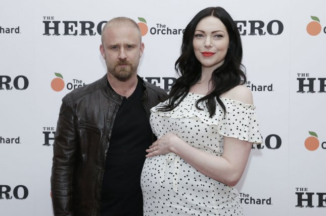 Laura Prepon (R) and Ben Foster attend the New York premiere of The Hero on Wednesday. Photo by John Angelillo/UPI