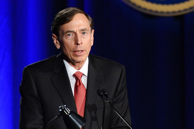 Former CIA director and retired four-star general Gen. David Petraeus makes his first public speech since resigning as CIA director at University of Southern California dinner for student veterans and ROTC students in Los Angeles in 2013. File Photo by Jim Ruymen/UPI
