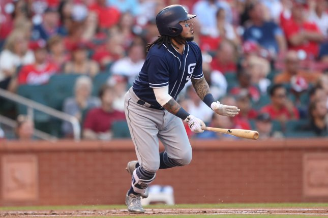 Veteran infielder Freddy Galvis hit .248 with 13 home runs and 67 RBIs in 162 games last season for the San Diego Padres. Photo by Bill Greenblatt/UPI