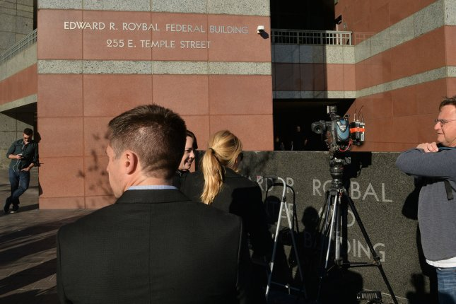 Actress Lori Laughlin was charged at the Edward R. Roybal Federal Building in Los Angeles on Wednesday with conspiracy to commit mail fraud and wire fraud over efforts to get her daughter into college. Photo by Jim Ruymen/UPI