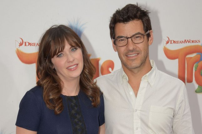 Jacob Pechenik (R) filed for divorce from Zooey Deschanel amid the actress' romance with Property Brothers star Jonathan Scott. File Photo by Jim Ruymen/UPI