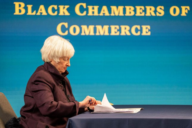 U.S. Treasury Secretary Janet Yellen Yellen said imposing a global minimum would make sure the global economy thrives based on a more level playing field in the taxation of multinational corporations. File Photo by Ken Cedeno/UPI