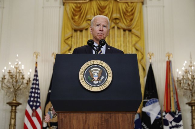 President Joe Biden speaks on Thursday in the East Room of the White House in Washington, D.C. Friday afternoon, he will sign an executive order that includes more than 70 initiatives designed to stimulate competition among businesses in the economy. Photo by Tom Brenner/UPI