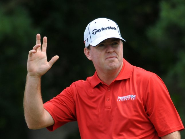 Robert Garrigus, shown in a June 2011 file photo, owns a two-stroke lead after Friday's play at the CIMB Classic, a PGA Tour event in Malaysia. Garrigus shot 7-under-par 64 Friday. UPI/Pat Benic