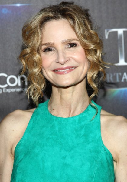 Kyra Sedgwick arrives for the STX Entertainment Presentation red carpet at CinemaCon 2016 in Las Vegas on April 12, 2016. She will make her directorial debut with Story of a Girl, the screen adaptation of Sara Zarr's novel. File Photo by James Atoa/UPI