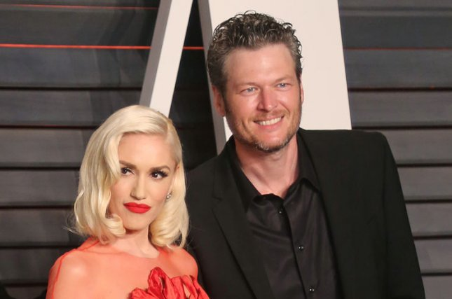 Gwen Stefani (L) and Blake Shelton at the Vanity Fair Oscar party on February 28. The couple confirmed their relationship in November. File photo by David Silpa/UPI