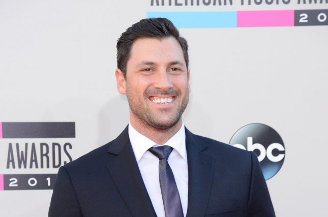Maksim Chmerkovskiy attends the American Music Awards on November 24, 2013. The dancer skipped Monday's episode of Dancing with the Stars. File Photo by Phil McCarten/UPI