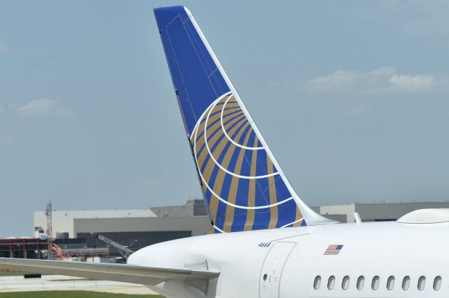 A United Airlines plane. UPI/Brian Kersey