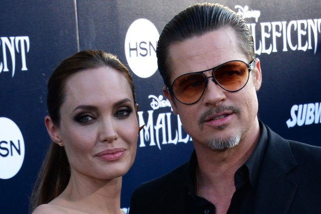 Angelina Jolie and Brad Pitt. UPI/Jim Ruymen
