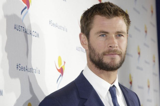 Chris Hemsworth at Tourism Australia's There's Nothing Like Australia campaign launch on Monday. Photo by John Angelillo/UPI