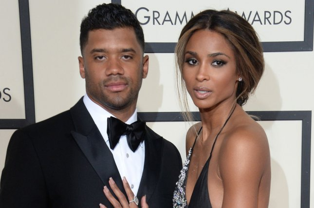 Ciara (R) and Russell Wilson arrive for the 58th annual Grammy Awards held at Staples Center in Los Angeles on February 15, 2016. Photo by Jim Ruymen/UPI