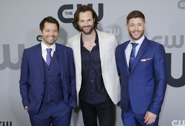 Actors Misha Collins, Jared Padalecki and Jensen Ackles announced Friday that the 15th season of Supernatural will be its last. File Photo by John Angelillo/UPI